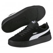 Puma Smash Shoes Womens Black-White (772ORAQX)
