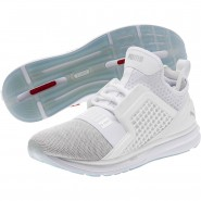 Puma IGNITE Limitless Running Shoes Mens White-Silver (774FGEIM)