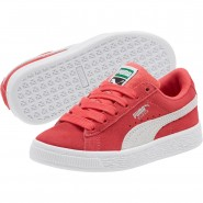 Puma Suede Classic Shoes Boys Paradise Pink-White (774NRCMQ)