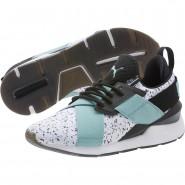 Puma Muse Training Shoes Womens White-Aquifer-Black (781CNHVQ)