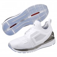 Puma IGNITE Limitless Shoes Womens White-Silver (781GQBZX)