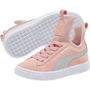 Puma Suede Shoes Boys Peach Beige-Metallic Beige (782RGBQW)