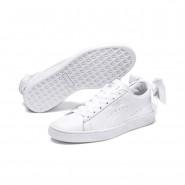 Puma Basket Bow Shoes Womens White-White (789FYXNZ)
