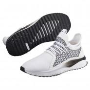 Puma TSUGI NETFIT Shoes Mens White-Black (793DONCA)
