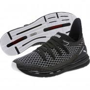Puma IGNITE Limitless Running Shoes Mens Black-White (794MQXIK)