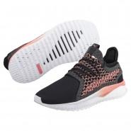 Puma TSUGI NETFIT Shoes Womens Black-Shell Pink-White (795ONICQ)