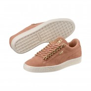 Puma Suede Classic Shoes For Women Coral/Gold (801WUHFA)