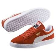 Puma Suede Classic Shoes Mens Burnt Ochre-White (809HIMSQ)