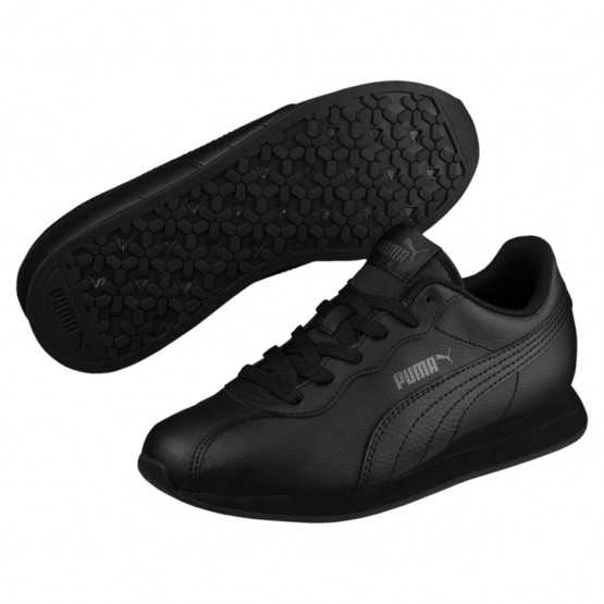 Puma Turin Shoes Boys Black-Black (812ZFUIE)