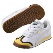 Puma Minions Shoes Boys White-Minion Yellow-White (815AYMFR)