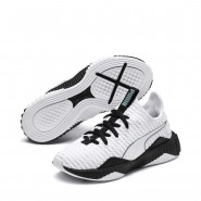 Puma Defy Shoes Boys White-Black-Aquifer (815SFCUE)