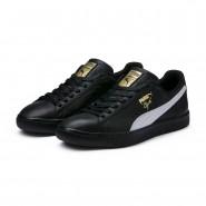 Puma Clyde Shoes Mens Black-White-Gold (832CNRMD)