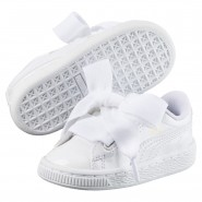Puma Basket Heart Shoes Girls White-White (837HNXGL)
