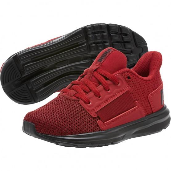 Puma Enzo Shoes Boys Red Dahlia-Red Da-Fl.Scarlet (842CBVWG)