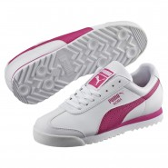 Puma Roma Basic Shoes Boys White-Fuchsia Purple (847AQCLB)