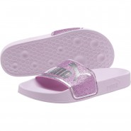 Puma Leadcat Shoes Girls Winsome Orchid-Orchid-Silver (854MOPNL)