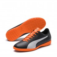 Puma Spirit Indoor Shoes Mens Black-White-Orange (867AOZKR)