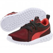 Puma Carson 2 Shoes Boys Black-Flame Scarlet (869CQJFX)