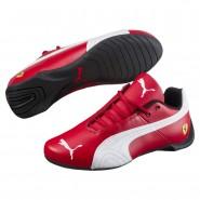 Puma Ferrari Shoes Boys Rosso Corsa-White (870EGLHC)