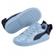 Puma Basket Bow Shoes Girls Cerulean-Peacoat (871CMWXE)