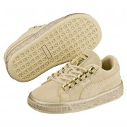 Puma Suede Classic Shoes Boys Reed Yellow-Metallic Gold (871VUFXZ)