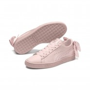 Puma Basket Bow Shoes Womens Pearl-Pearl (872DBIOW)