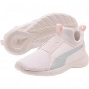 Puma Rebel Mid Shoes Girls Pearl-Silver (875KOJUM)