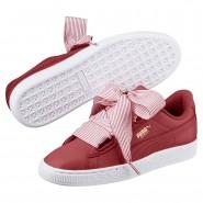 Puma Basket Heart Shoes Womens Red Dahlia-Red Dahlia (879PVWDY)