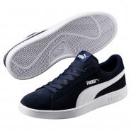 Puma Smash Shoes Mens Peacoat-White (883PTHKB)