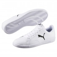Puma Smash Shoes Mens White-Black (884DPOEU)
