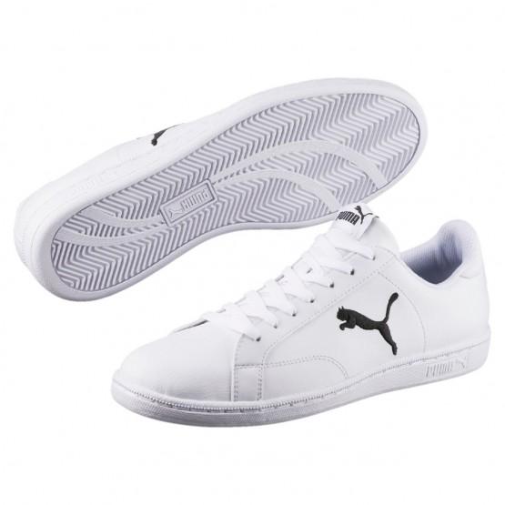 Puma Smash Shoes Mens White-Black (884DPOEU)