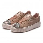 Puma Platform Shoes Womens Peach Beige-Pearl (886BEPHY)