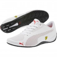 Puma Ferrari Shoes Mens White-Rosso Corsa-Black (889YVDTH)