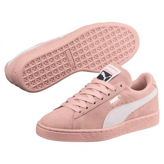 Puma Suede Classic Shoes Womens Peach Beige-White (892HAKGM)