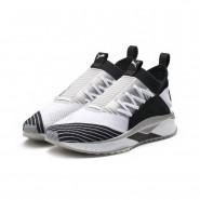 Puma TSUGI JUN Shoes Mens White-Black-Gray Violet (892JHFTR)
