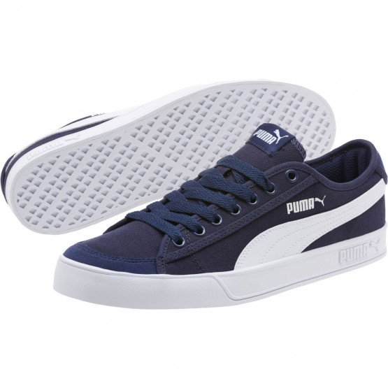 Puma Smash Shoes Mens Peacoat-White (893VQENM)