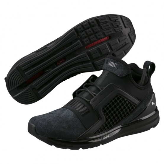 Chaussure Running Puma IGNITE Limitless Homme Noir/Argent (899YUPSL)