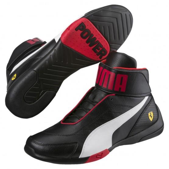 Puma Scuderia Ferrari Shoes Mens Black-White (905WNLZI)
