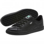 Puma Basket Classic Shoes Boys Black-Black (906ETCZP)