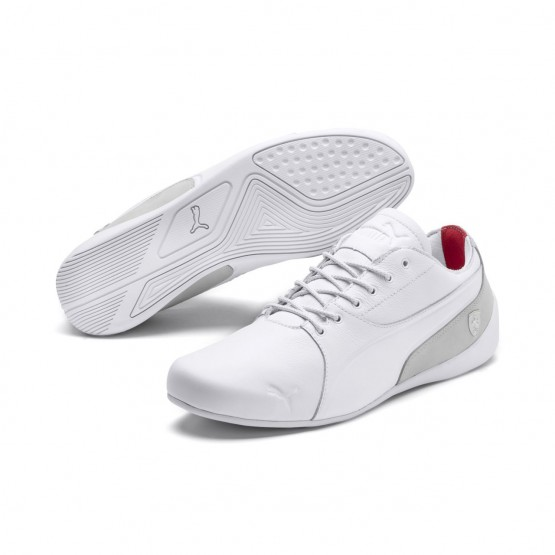 Puma Ferrari Shoes Mens White-Gray Violet (911VFWRB)