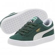 Puma Suede Classic Shoes Boys Pineneedle-White (915CHVIU)