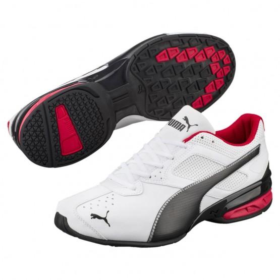 Puma Tazon 6 Shoes Mens White-Black-Silver (916DQTSL)