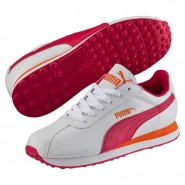 Chaussure Puma Turin Garcon Blanche/Rose Rouge (917RACNI)