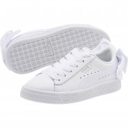 Puma Basket Bow Shoes Girls White-White (922HVWUJ)