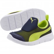 Puma Bao 3 Mesh Shoes Boys Peacoat-Limepunch (924XCMUT)