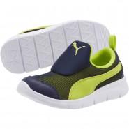 Chaussure Puma Bao 3 Mesh Garcon Bleu Marine/Vert Clair (924XCMUT)