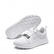 Puma Wired Shoes Girls White-White-White (945SAQPR)