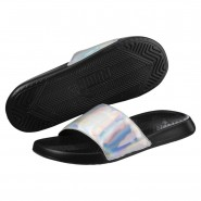 Puma Popcat Sandals Womens Black-Silver (961IZGQM)