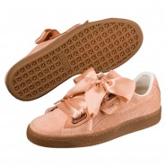 Puma Basket Heart Shoes Womens Dusty Coral-Dusty Coral (965WFNEL)