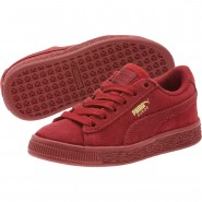 Puma Suede Classic Shoes Boys Red Dahlia-Red Dahlia (970BGRNT)